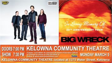 Big Wreck live in Kelowna BC