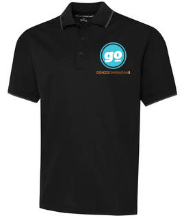 Gonzo Okanagan Golf Shirts - Black