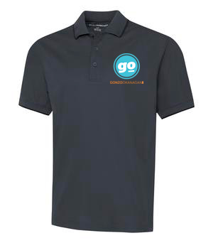 Gonzo Okanagan Golf Shirts - Grey