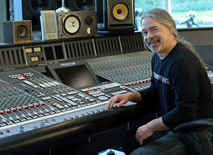 Mike Fraser at recording console