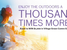 WIN with a Thousand Reasons to Get Outside! The Village Green Centre - Vernon BC.