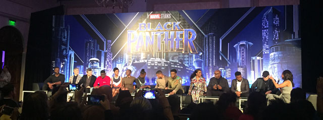 Black Panther Movie Press Conference.