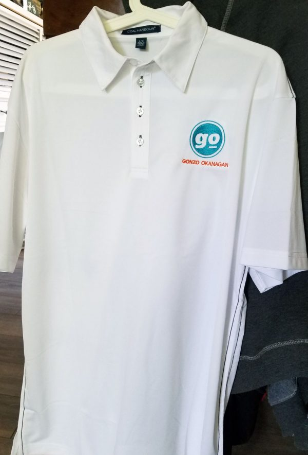 gonzo golf shirt white mens