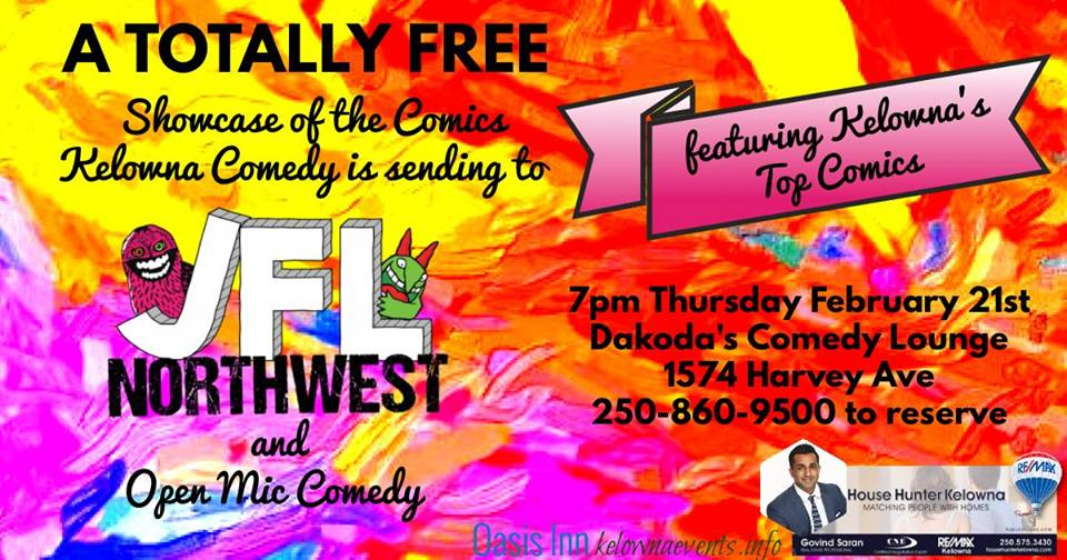 Totally Free Showcase of Kelowna Comics going to JFL Northwest