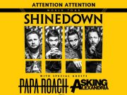 Multi-platinum rock band SHINEDOWN returns to Penticton this fall with 2019 ATTENTION ATTENTION World Tour