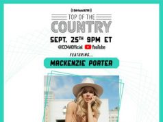MacKenzie Porter to headline the virtual stage for SiriusXM's Top of the Country Showcase during Country Music Week 2020