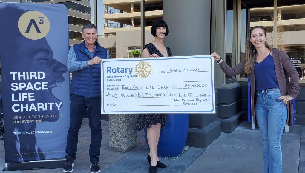 Third Space Life Charity and West Kelowna Daybreak Rotary club